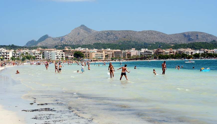 Alcudia beach in Mallorca