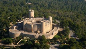 A beautiful view of Castle Bellver in Palma de Mallorca