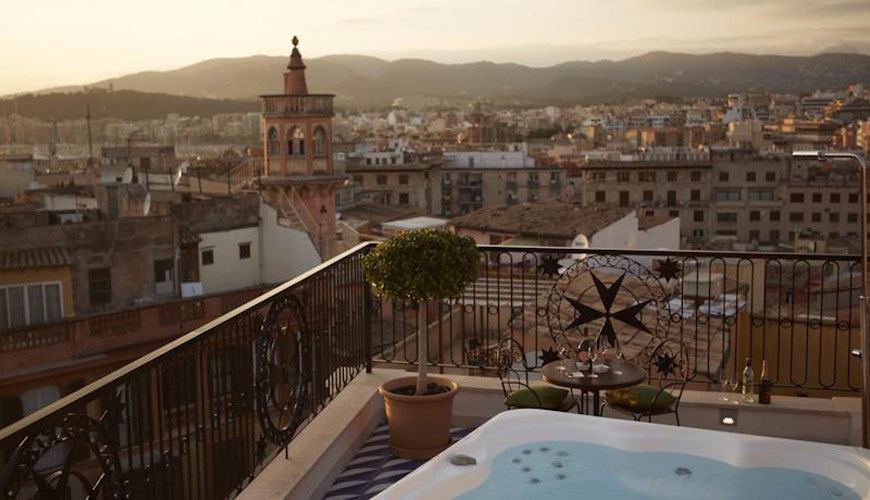 A view over the roof tops of Palma de Mallorca