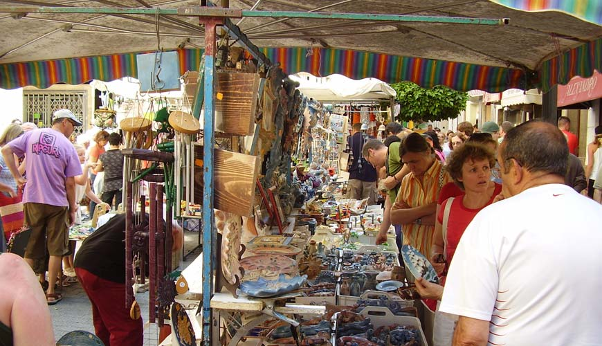The weekly market in Inca