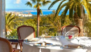 View over Palma from restaurant Es Castell
