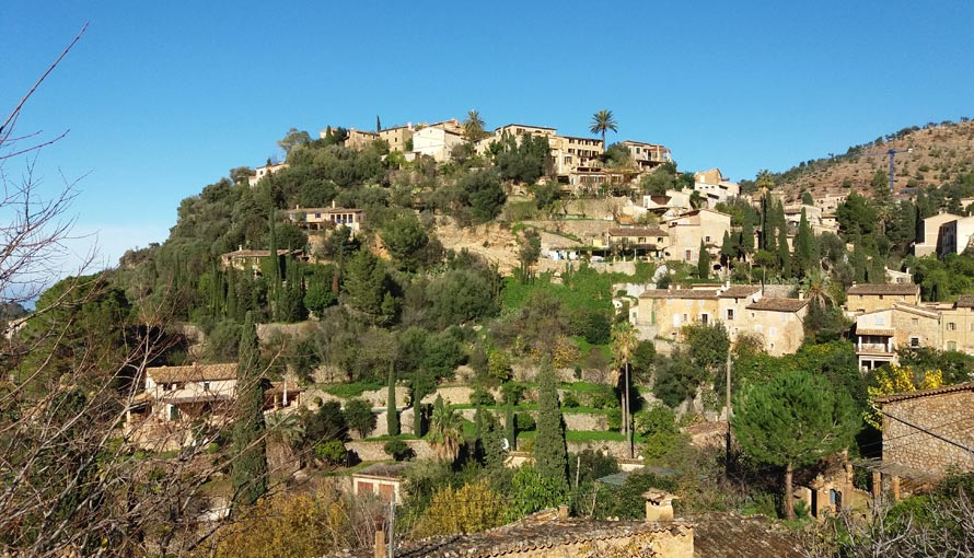 Deia village in Mallorca