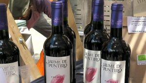 An image of wine bottles from Jaume de Puntiró